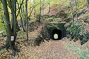 Tunnel der Schwarzbachtalbahn, Kohlmühle, Hohnstein, Sächsische Schweiz, Elbsandsteingebirge, Sachsen, Deutschland | tunnel Schwarzbachtal railway, Kohlmühle, Hohnstein, Saechsische Schweiz, Saxon Switzerland, Saxony, Germany