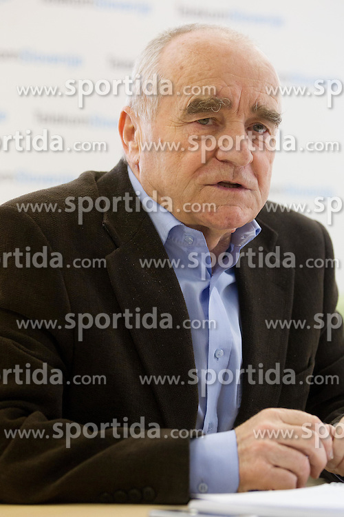 Martin Steiner at press conference of Slovenian team before departure to Indoor Athletics World Championship in Istanbul, on March 7, 2012 in Ljubljana, Slovenia.  (Photo By Vid Ponikvar / Sportida.com)