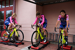 Valcar Cylance warm up for Postnord UCI WWT Vårgårda WestSweden TTT, a 36 km team time trial in Vårgårda, Sweden on August 17, 2019. Photo by Sean Robinson/velofocus.com