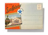 San Antonio postcard on white background