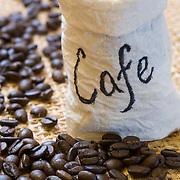 Coffe beans detail. Quintana Roo, Mexico.