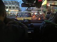 Ibagu&eacute;, Tolima, Colombia - 08.09.2016        <br /> <br /> A taxi driver confesses with a message on his rear window for the rejection of the peace treaty between the Colombian government and the FARC. On 2nd October a peace referendum takes place about the end of the 52 years ongoing civil war between the marxist FARC-EP guerrilla and the government.<br /> <br /> Ein Taxi-Fahrer bekennt sich mit einer Botschaft an seiner Heckscheibe f&uuml;r die Ablehnung des Friedensvertrags zwischen der FARC und der kolumbianischen Regierung. Am 02. Oktober findet eine Volksabstimmung &uuml;ber das Ende des seit 52 Jahren dauernden B&uuml;rgerkrieges zwischen der marxistischen FARC-EP Guerilla und der Regierung statt.<br /> <br /> Photo: Bjoern Kietzmann
