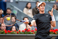 Andy Murray during the final of the Madrid Open at Manzanares Park Tennis Centre, Madrid<br /> Picture by EXPA Pictures/Focus Images Ltd 07814482222<br /> 08/05/2016<br /> ***UK &amp; IRELAND ONLY***<br /> EXPA-ESP-160509-0095.jpg