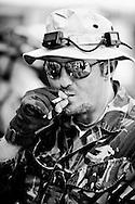 """Sant'Elpidio a Mare, Italia - 19 giugno 2010..Ph. Roberto Salomone.ITALY - on June 19, 2010-, Porto Sant'Elpidio (Fermo), Italia -  29 giugno  2010. Per la prima volta in Italia, un intero centro storico abitato si e? tramutato in un 'campo di battaglia' dove, 'professionisti del settore' e comuni cittadini, si sono cimentati in lasertag combats. Il gioco del 'Laser-tag', che corrisponde, nella realta?, ad un sistema di addestramento militare utilizzato dal Corpo dei Marines americani per il loro allenamento ordinario, si basa sulla tecnologia infrarossa che produce """"proiettili di luce"""" assolutamente non dannosi. Il Laser-tag e? un gioco fortemente aggregante che privilegia il gioco di squadra: e? il gruppo che vince o perde, non il singolo. Ph. roberto Salomone Ag. Controluce.ITALY - Laser-tag combat sessions in  the urban center of Porto Sant'Elpidio on June 29, 2010. Laser-tag games are based on infra.red technology that fire harmeless """"light"""" bullets... .."""
