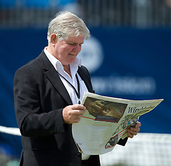 LIVERPOOL, ENGLAND - Sunday, June 19, 2011: Tournament Referee Alan Mills during day four of the Liverpool International Tennis Tournament at Calderstones Park. (Pic by David Rawcliffe/Propaganda)