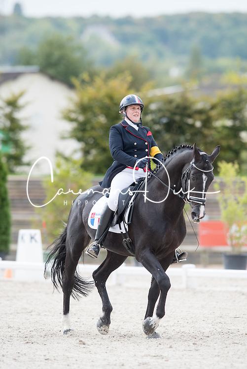 Bizet Nathalie, (FRA), Odate FJ<br /> Grade IV Team Test<br /> Para-Dressage FEI European Championships Deauville 2015<br /> &copy; Hippo Foto - Jon Stroud<br /> 18/09/15