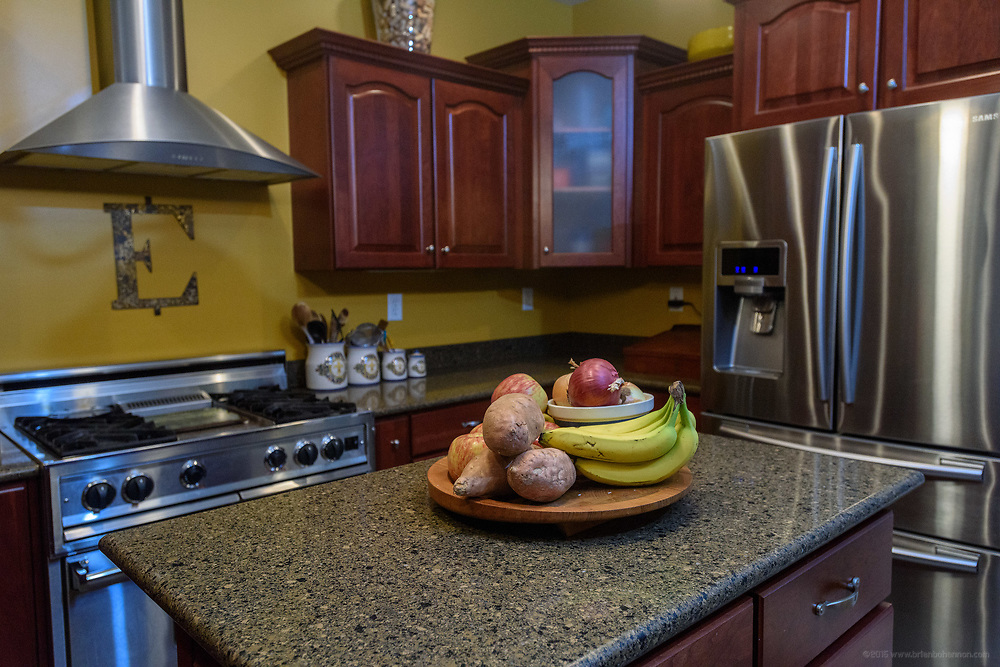The kitchen at the home of Kristen and David Embry in Pendleton, Ky. Feb. 22, 2018