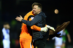 Darren Ferguson celebrates with Ian Lawlor after beating Bristol Rovers 0-1 - Mandatory by-line: Dougie Allward/JMP - 23/12/2017 - FOOTBALL - Memorial Stadium - Bristol, England - Bristol Rovers v Doncaster Rovers - Skt Bet League One