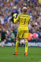 Football - 2017 / 2018 FA Cup - Semi Final: Chelsea vs. Southampton<br /> <br /> Willy Caballero of Chelsea celebrates goal number two at Wembley Stadium <br /> <br /> COLORSPORT/SHAUN BOGGUST