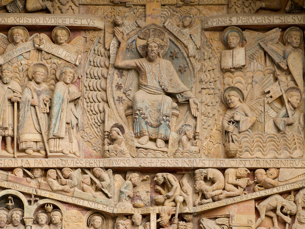 In Conques, the church had wonderful carvings above the main entrance. The abbey church was added to the UNESCO World Heritage Site list in 1998.