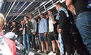 FODBOLD: Borgmester Benedikte Kiær taler da FC Helsingør's oprykning til ALKA Superligaen fejres på Kulturværftet i Helsingør den 5. juni 2017. Foto: Claus Birch