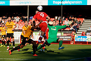 Goal, Ollie Palmer of Crawley Town scores, Crawley Town 3-1 Newport County during the EFL Sky Bet League 2 match between Crawley Town and Newport County at the Broadfield Stadium, Crawley, England on 20 October 2018.