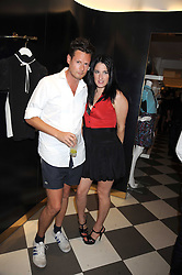 PERCY PARKER and AMY MOLYNEAUX at the PPQ of Mayfair Summer Party at 47 Conduit Street, London on 30th July 2008.<br /> <br /> NON EXCLUSIVE - WORLD RIGHTS