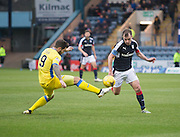 Dundee&rsquo;s Paul McGowan takes on St Johnstone&rsquo;s Richard Foster - Dundee v St Johnstone in the Ladbrokes Scottish Premiership at Dens Park, Dundee - Photo: David Young, <br /> <br />  - &copy; David Young - www.davidyoungphoto.co.uk - email: davidyoungphoto@gmail.com