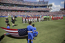 July 8, 2017 - Nashville, TN, USA - Nashville, TN - Saturday July 08, 2017: USMNT and Panama starting eleven's during a 2017 Gold Cup match between the men's national teams of the United States (USA) and Panama (PAN) at Nissan Stadium. (Credit Image: © John Dorton/ISIPhotos via ZUMA Wire)