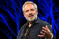 © Licensed to London News Pictures. 28/05/2016. Hay on Wye, Powys, Wales, UK. Pictured Sam Mendes Talking about Directing at the Hay festival. Photo credit : Tracey Paddison / LNP