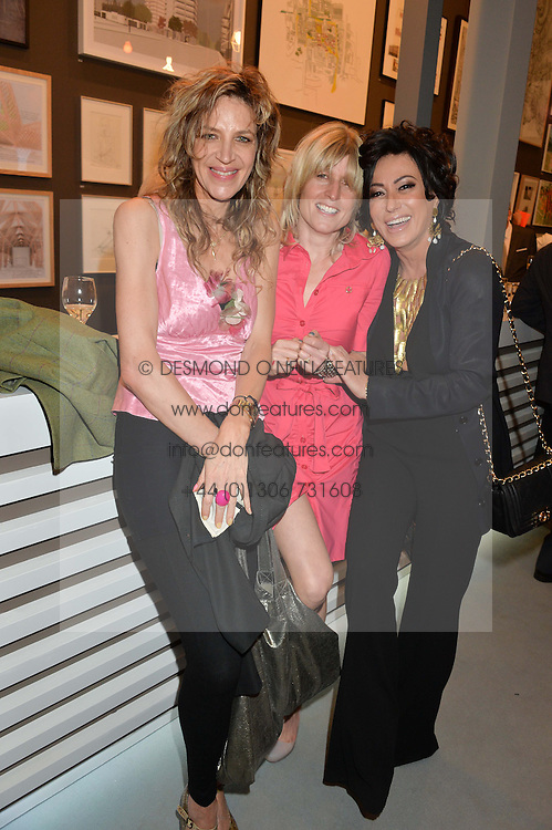 Left to right, MARTHA FIENNES, RACHEL JOHNSON and NANCY DELL'OLIO at the annual Royal Academy of Art Summer Party held at Burlington House, Piccadilly, London on 4th June 2014.