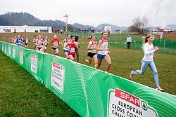 Marusa Mismas of Slovenia (R) during the Junior Women's race during the 18th SPAR European Cross Country Championships Velenje 2011, on December 11, 2011 in Stadium Ob jezeru, Velenje, Slovenia. (Photo By Vid Ponikvar / Sportida.com)