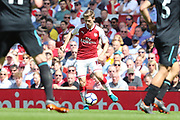 Arsenal defender Nacho Monreal (18) during the Premier League match between Arsenal and West Ham United at the Emirates Stadium, London, England on 22 April 2018. Picture by Bennett Dean.