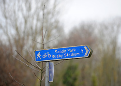 General view of a sign to the ground - Mandatory by-line: Alex Davidson/JMP - 13/01/2018 - RUGBY - Sandy Park Stadium - Exeter, England - Exeter Chiefs v Montpellier - European Rugby Champions Cup