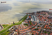 Nederland, Zeeland, Walcheren, 09-05-2013; zeeschepen op de rede van Vlissingen. Seagoing vessels on the Flushing Roadstead.<br /> luchtfoto (toeslag op standard tarieven)<br /> aerial photo (additional fee required)<br /> copyright foto/photo Siebe Swart