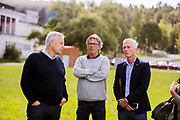 STOCKHOLM 2016-08-31<br /> Tommy S&ouml;derberg, Pelle Olsson och H&aring;kan Sj&ouml;strand under landslagets tr&auml;ning p&aring; Bos&ouml;n onsdag den 31 augusti 2016.<br /> Foto: Nils Petter Nilsson/Ombrello<br /> ***BETALBILD***
