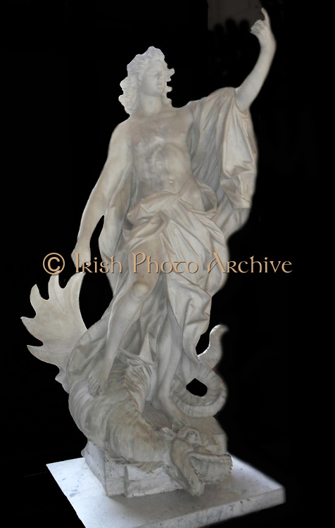 Statue of 'Apollo Victorious over a Python'. Made from Marble. Italy, Eighteenth century.