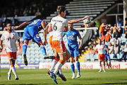 Peterborough United defender Rhys Bennett (16) heads in the opening goal for Posh during the EFL Sky Bet League 1 match between Peterborough United and Blackpool at The Abax Stadium, Peterborough, England on 29 September 2018.