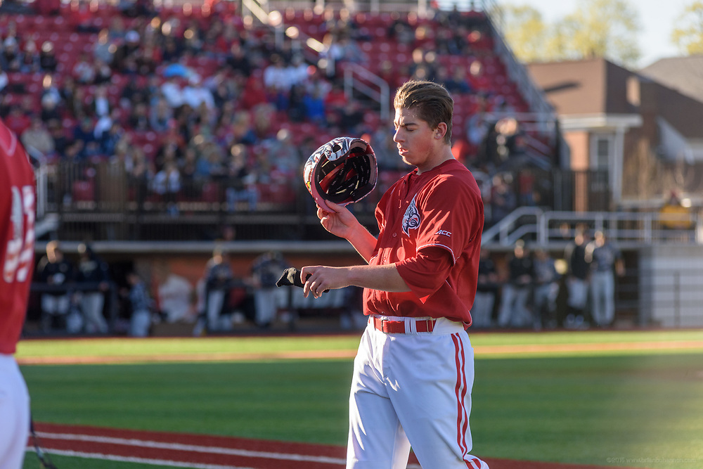 University of Louisville star Brendan McKay pitches Friday, April 7, 2017 as U of L (25-3, 10-2 ACC) hosts No. 22 Wake Forest (22-8, 8-4) forthe first of a three-game series at Jim Patterson Stadium. (Photo by Brian Bohannon)