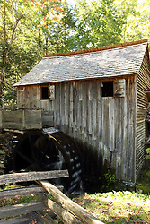 08 October 2016:   Great Smokey Mountains National Park Cable Mill at Cades Cove in Great Smoky Mountain National Park in Blount County Tennessee.  This is a working mill still producing flour for customers that venture to the mill.
