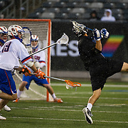 April 01,  2012:  Duke midfielder Jake Tripucka (7) takes a shot against Syracuse during the Big City Classic at  Met Life Stadium in East Rutherford, New Jersey . Duke defeated Syracuse 12-10. (Credit Image: © Kostas Lymperopoulos/Cal Sport Media)