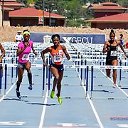 UTEP's Tobi Amusan in the Women's 100 Meter Hurdles at the 2017 UTEP Invitational, Kidd Field El Paso, TX