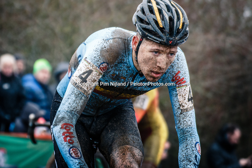 Nicolas CLEPPE of BEL during the Men Under 23 race, UCI Cyclo-cross World Championship at Bieles, Luxembourg, 29 January 2017. Photo by Pim Nijland / PelotonPhotos.com | All photos usage must carry mandatory copyright credit (Peloton Photos | Pim Nijland)