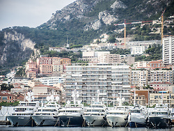 September 24, 2016 - Monaco, Monaco - Superyachts in Port Hercules  for the 26th Monaco Yacht Show with some 125 of the most desirable superyachts from around the world on display between 28 September and 1 October. The Monaco Yacht Show is held in Port Hercules, and is Europe's biggest in-water display of superyachts. (Credit Image: © Hugh Peterswald/Pacific Press via ZUMA Wire)