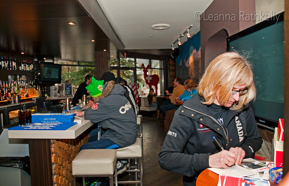 The House of Switzerland for the 2010 Winter Olympic Games in Whistler, BC  hosts a 2010 superbowl party.