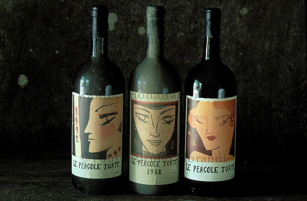 Italie - Toscane - Province de Florence - region du Chianti - Cave à vin - Bouteille