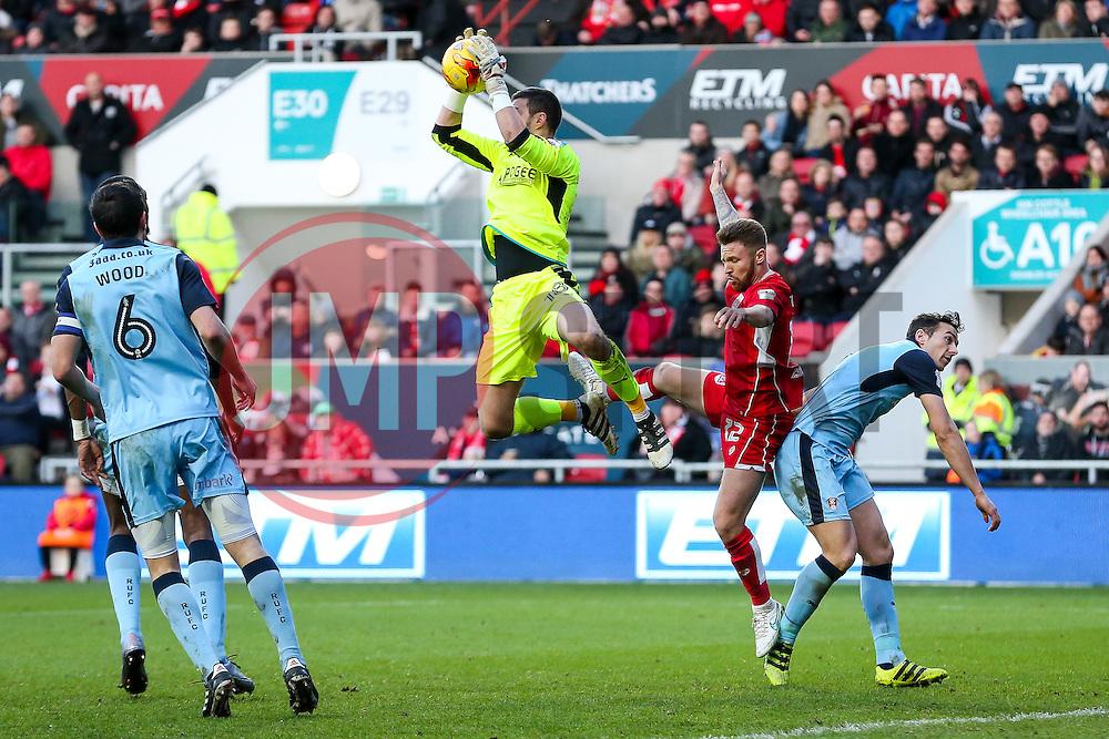 Richard O'Donnell of Rotherham United beats Matty Taylor of Bristol City to the ball - Rogan Thomson/JMP - 04/02/2017 - FOOTBALL - Ashton Gate Stadium - Bristol, England - Bristol City v Rotherham United - Sky Bet Championship.