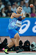 Great Britain, London - 2017 August 11: Marco Lingua of Italy competes in men&rsquo;s hammer throw final during IAAF World Championships London 2017 Day 8 at London Stadium on August 11, 2017 in London, Great Britain.<br /> <br /> Mandatory credit:<br /> Photo by &copy; Adam Nurkiewicz<br /> <br /> Adam Nurkiewicz declares that he has no rights to the image of people at the photographs of his authorship.<br /> <br /> Picture also available in RAW (NEF) or TIFF format on special request.<br /> <br /> Any editorial, commercial or promotional use requires written permission from the author of image.