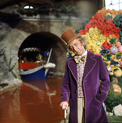 GENE WILDER, (born Jerome Silberman, June 11, 1933 - August 28, 2016) was an American stage and screen comic actor, screenwriter, film director, and author. He was known best for the lead role in the 1971 film 'Willy Wonka in Willy Wonka & the Chocolate Factory,' and the Mel Brooks comedies 'Blazing Saddles', and 'Young Frankenstein', which Wilder co-wrote, garnering the pair an Academy Award nomination for Best Adapted Screenplay. Wilder died at age 83 from complications from Alzheimer's disease. PICTURED: GENE WILDER as Willy Wonka, in a scene from the 1971 film 'Willy Wonka and the Chocolate Factory,' based on the children's classic by Roald Dahl. (Credit Image: © Entertainment Pictures/Entertainment Pictures/ZUMAPRESS.com)