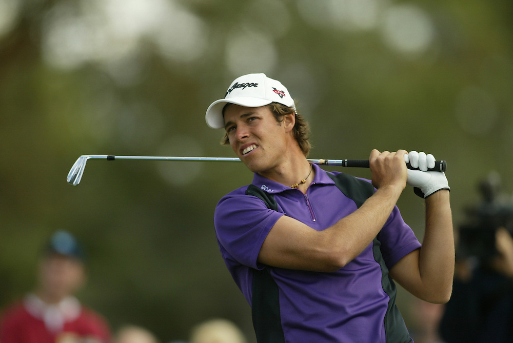 Aaron Baddeley..2004 Chrysler Classic of Tucson.Omni Tucson National Resort.Tucson, AZ.Fourth Round.Sunday, February 29, 2004..Photograph by Darren Carroll