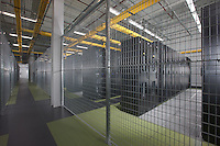 Interior image of data center server room with restricted access