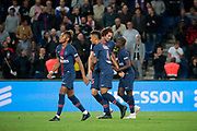 Moussa DIABY (PSG) scored a goal and celebrated it with Adrien Rabiot (PSG), Thilo KEHRER (PSG), Christopher Alan NKUNKU (PSG) the French Championship Ligue 1 football match between Paris Saint-Germain and AS Saint-Etienne on September 14, 2018 at Parc des Princes stadium in Paris, France - Photo Stephane Allaman / ProSportsImages / DPPI