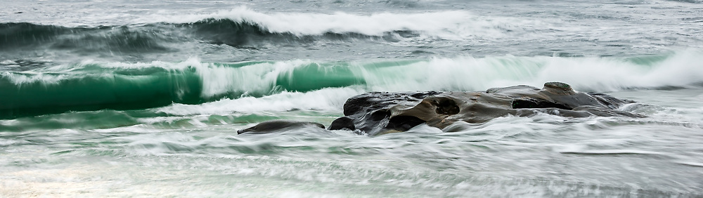 Windansea Beach Oceanscape Stock Photo