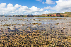 Shallow water covers Turtle Reef in Talbot Bay on the Kimberley coast.