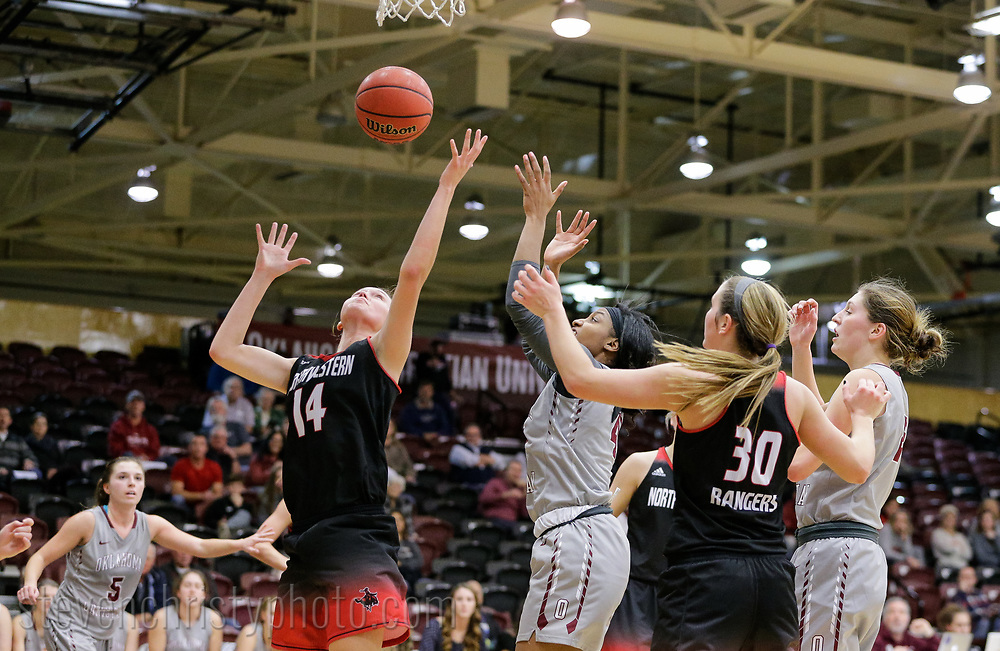 December 5, 2017: The Northwestern Oklahoma State University Rangers play against the Oklahoma Christian University Lady Eagles in the Eagles Nest on the campus of Oklahoma Christian University.