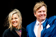 15-1-2019 AMSTERDAM - King Willem-Alexander and Queen Máxima hold the traditional New Year's reception for Dutch guests on Tuesday 15 January 2019 and Wednesday 16 January for foreign diplomats and representatives of international organizations based in the Netherlands. COPYRIGHT ROBIN UTRECHT