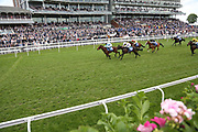 WEDDING DATE (8) ridden by Clifford Lee and trained by Richard Hannon winning The Yorkshire Equine Practice Handicap Stakes over 5f (£20,000)    during the third day of the Dante Festival at York Racecourse, York, United Kingdom on 17 May 2019.