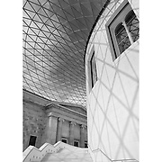 British Museum Rotunda Stairwell - London UK - Black & White