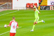Sheffield United Callum Robinson (11) scores a goal to make the score 1-3 during the Pre-Season Friendly match between Barnsley and Sheffield United at Oakwell, Barnsley, England on 27 July 2019.