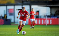 Abi Harrison of Bristol City in action- Mandatory by-line: Nizaam Jones/JMP - 27/10/2019 - FOOTBALL - Stoke Gifford Stadium - Bristol, England - Bristol City Women v Tottenham Hotspur Women - Barclays FA Women's Super League